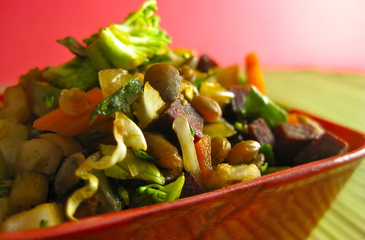 Photo of Chopped Vegetables & Lentils