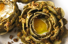 Photo of Egg in an Artichoke