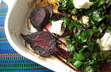 Photo of Mascarpone Roasted Beets & Greens
