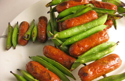 Photo of Snap Peas & Little Smokies Skewers