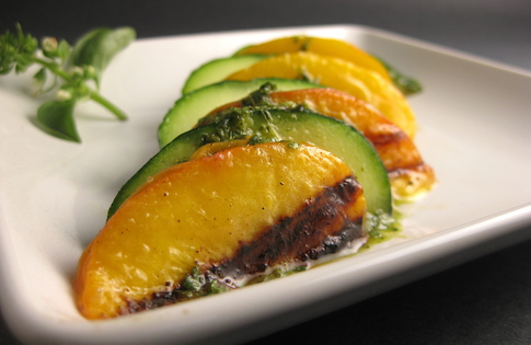 Photo of Grilled Zucs & Peaches