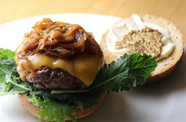 Photo of Beer Braised Onion & Bison Burgers
