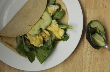 Photo of Avocado, Egg + Greens Crepes