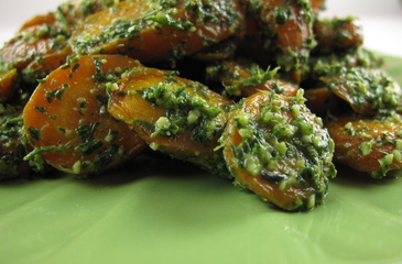 Photo of Roasted Carrots & Carrot Top Pesto