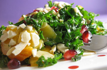 Photo of Chopped Kale & Pomegranate Salad