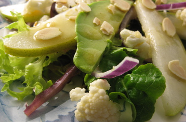Photo of Spinach Salad with Avocado, Pear & Almonds