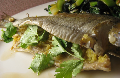Chinese whole fish oven steamed recipe lilly s table for Steam fish in oven