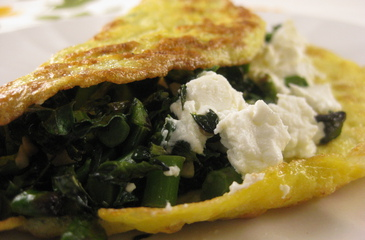 Recipes for Greens Stuffed Omelette with Toast – Lilly's Table ...