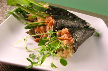 Photo of Smoked Salmon Sushi Handrolls