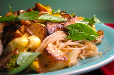 Photo of Lemon Summer Squash & Walnut Pasta